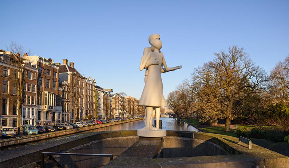 'Pas de Deux' Werk  van Laurent de Wolf  hortusbrug Amsterdam 20